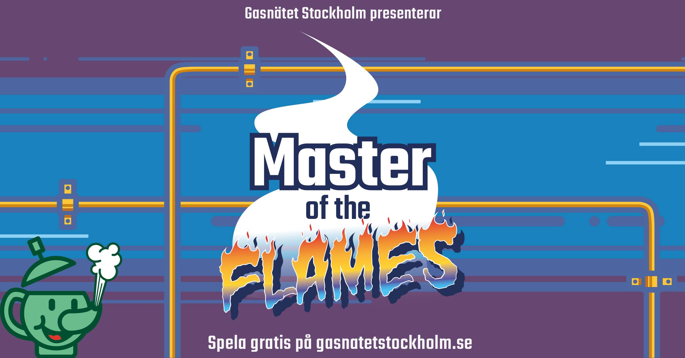 Maste of the flames, gasspis, Stockholm